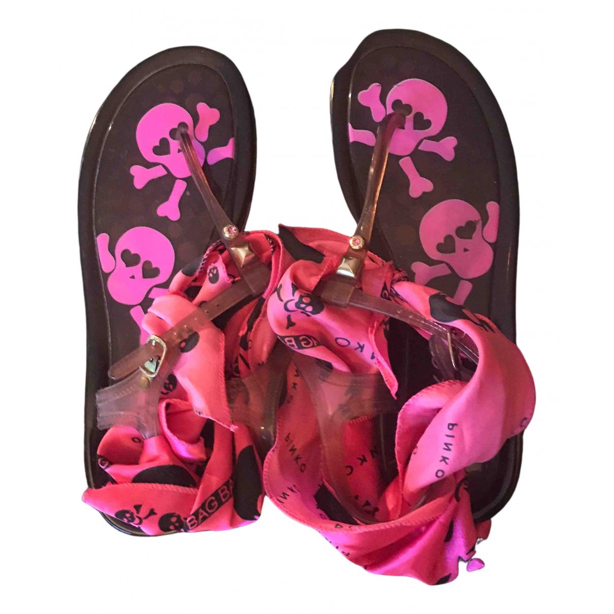Pinko \N Sandalen in  Rosa Kunststoff