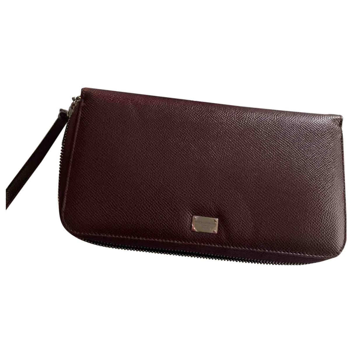 Dolce & Gabbana \N Burgundy Leather wallet for Women \N