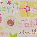 Sweet Baby Gift Wrap - 24 X 417 - Gift Wrapping Paper - Type: Colored Ink On 70# Paper by Paper Mart