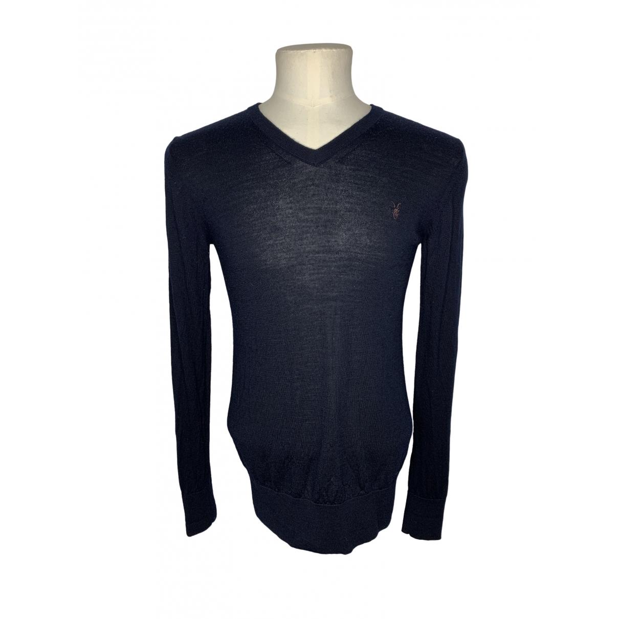 All Saints \N Pullover.Westen.Sweatshirts  in  Marine Wolle