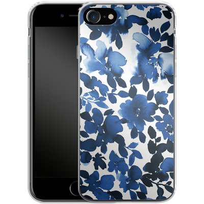 Apple iPhone 8 Silikon Handyhuelle - Sophia Blue Floral von Amy Sia