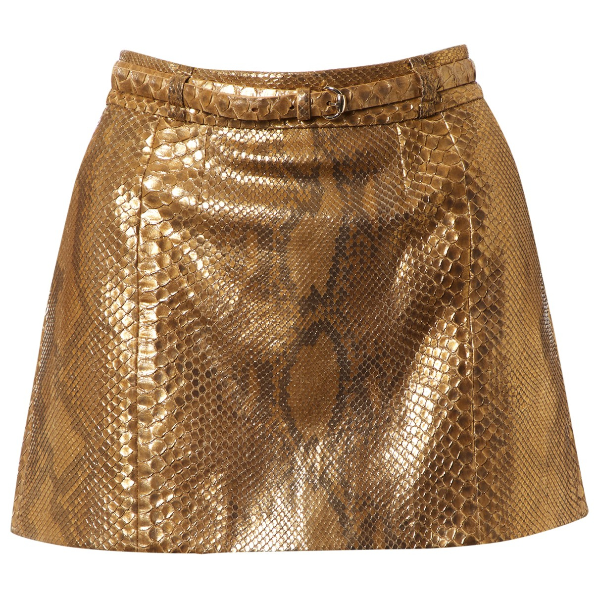 Gucci N Gold Python skirt for Women 40 IT