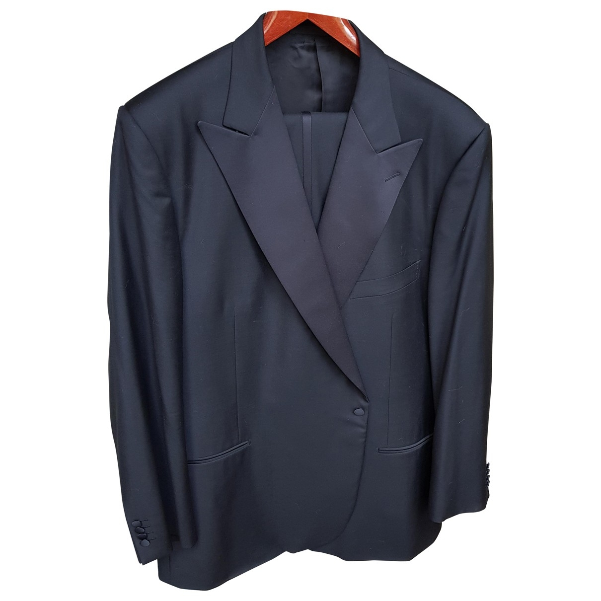 Ermenegildo Zegna \N Black Wool Suits for Men XXXL International