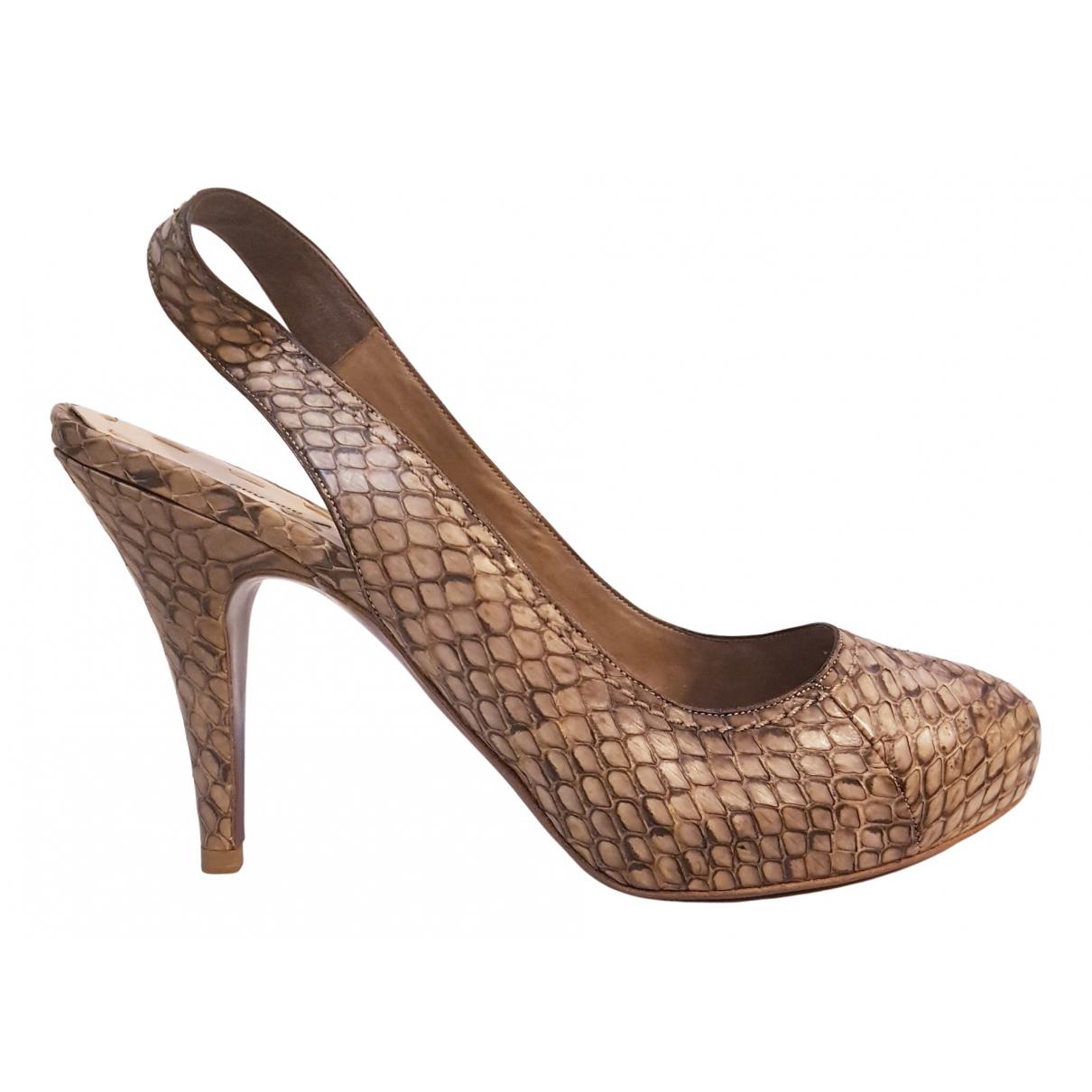 Miu Miu N Beige Water snake Heels for Women 39 EU