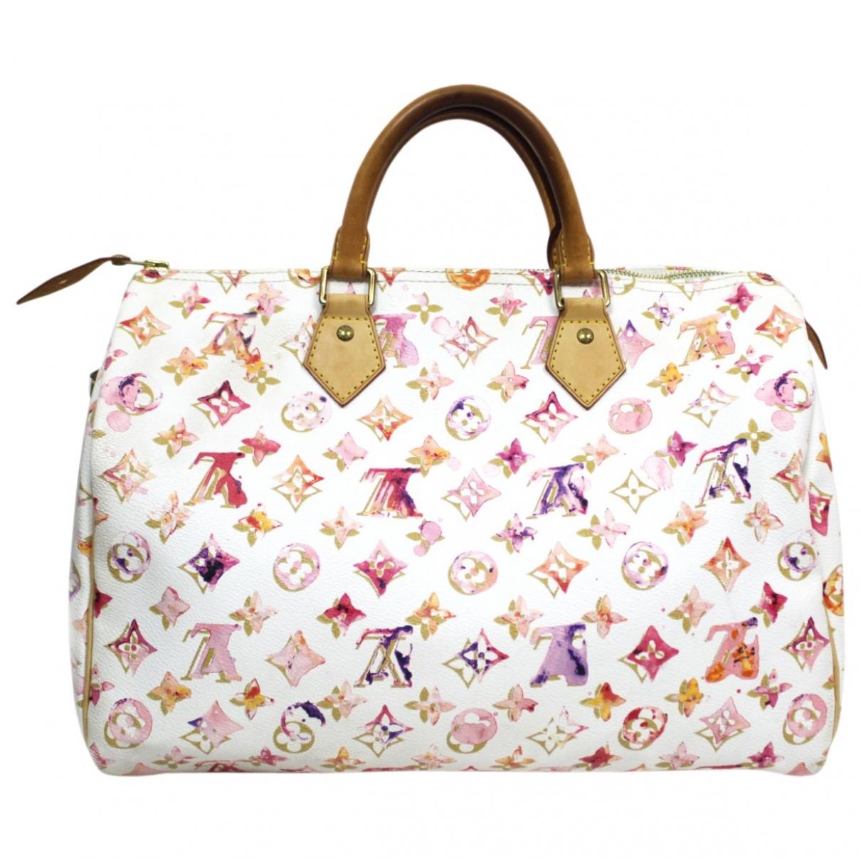 Louis Vuitton - Sac a main Speedy pour femme en toile - blanc