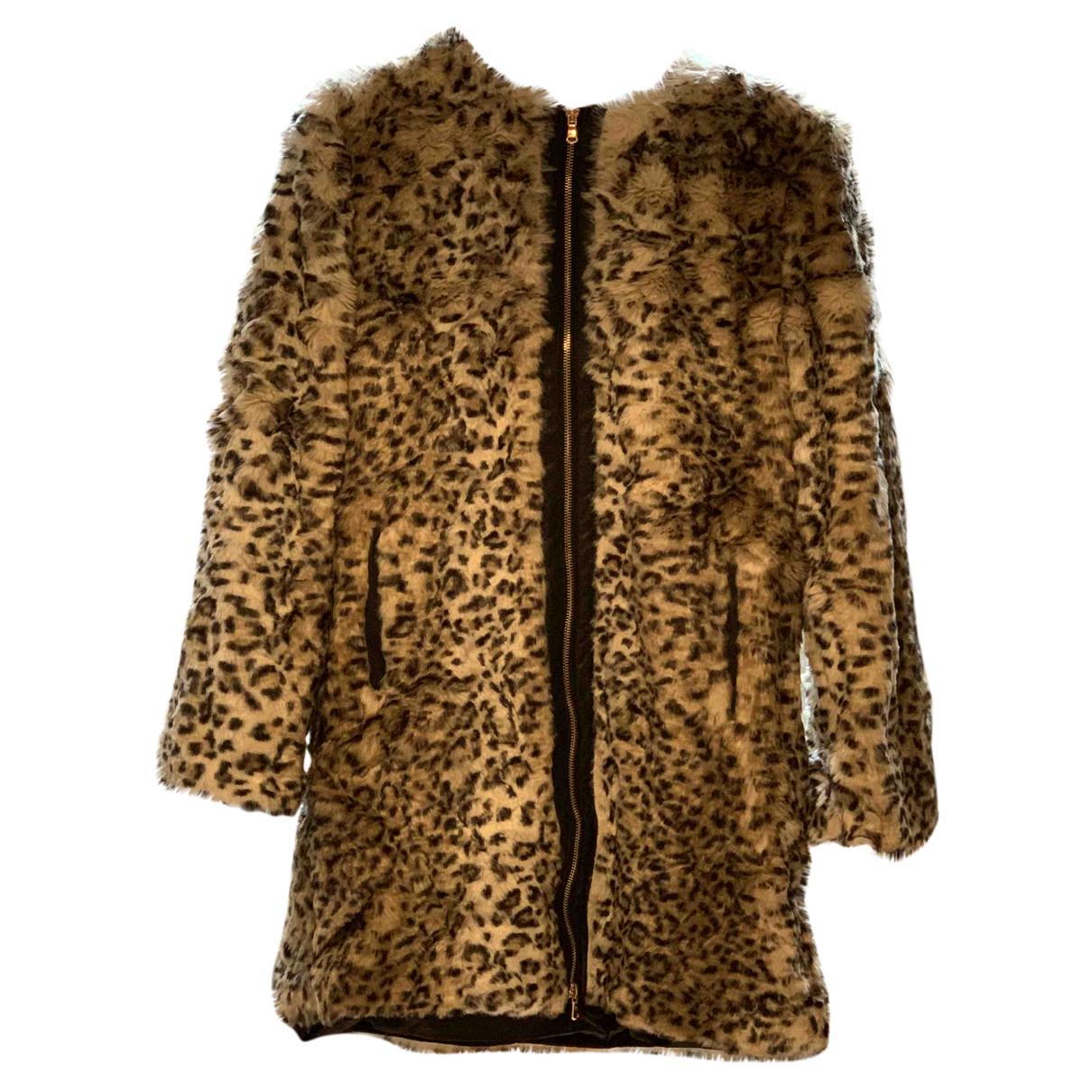 Zara - Manteau   pour femme en fourrure synthetique - multicolore