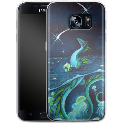 Samsung Galaxy S7 Silikon Handyhuelle - Carla Morrow - Sea of Stars von TATE and CO