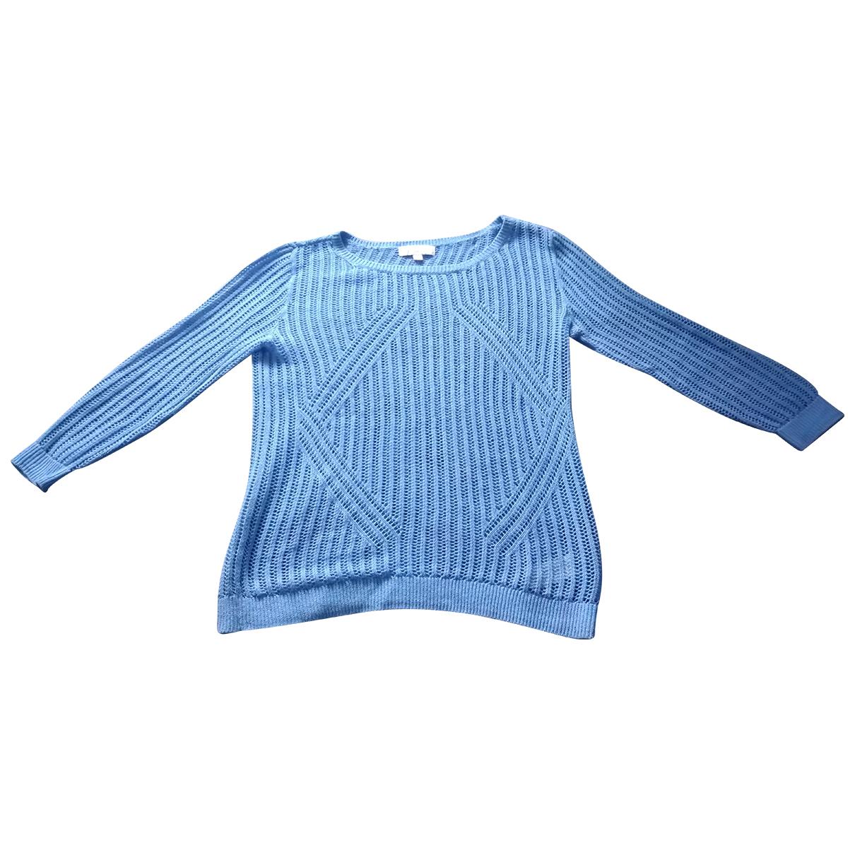 Michael Kors - Pull   pour femme en lin - bleu