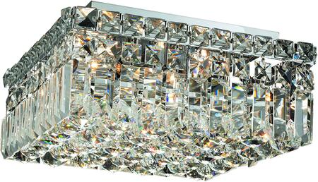 V2032F12C/SS 2032 Maxime Collection Flush Mount L:12In W:12In H:5.5In Lt:4 Chrome Finish (Swarovski   Elements