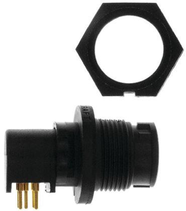 Switchcraft Connector, 5 contacts Panel Mount Plug, Solder IP66, IP68