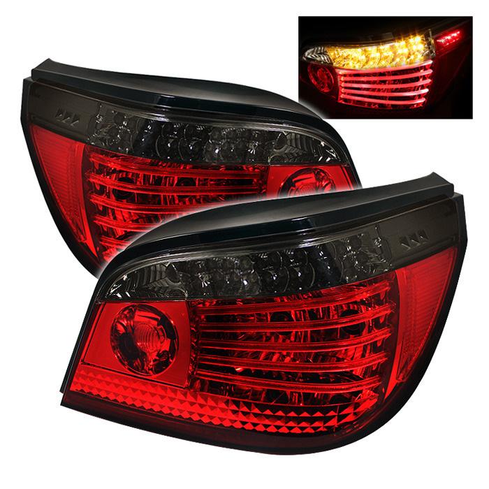 Spyder Auto ALT-YD-BE6004-LED-RS Red Smoke LED Taillights BMW E60 535i 2007