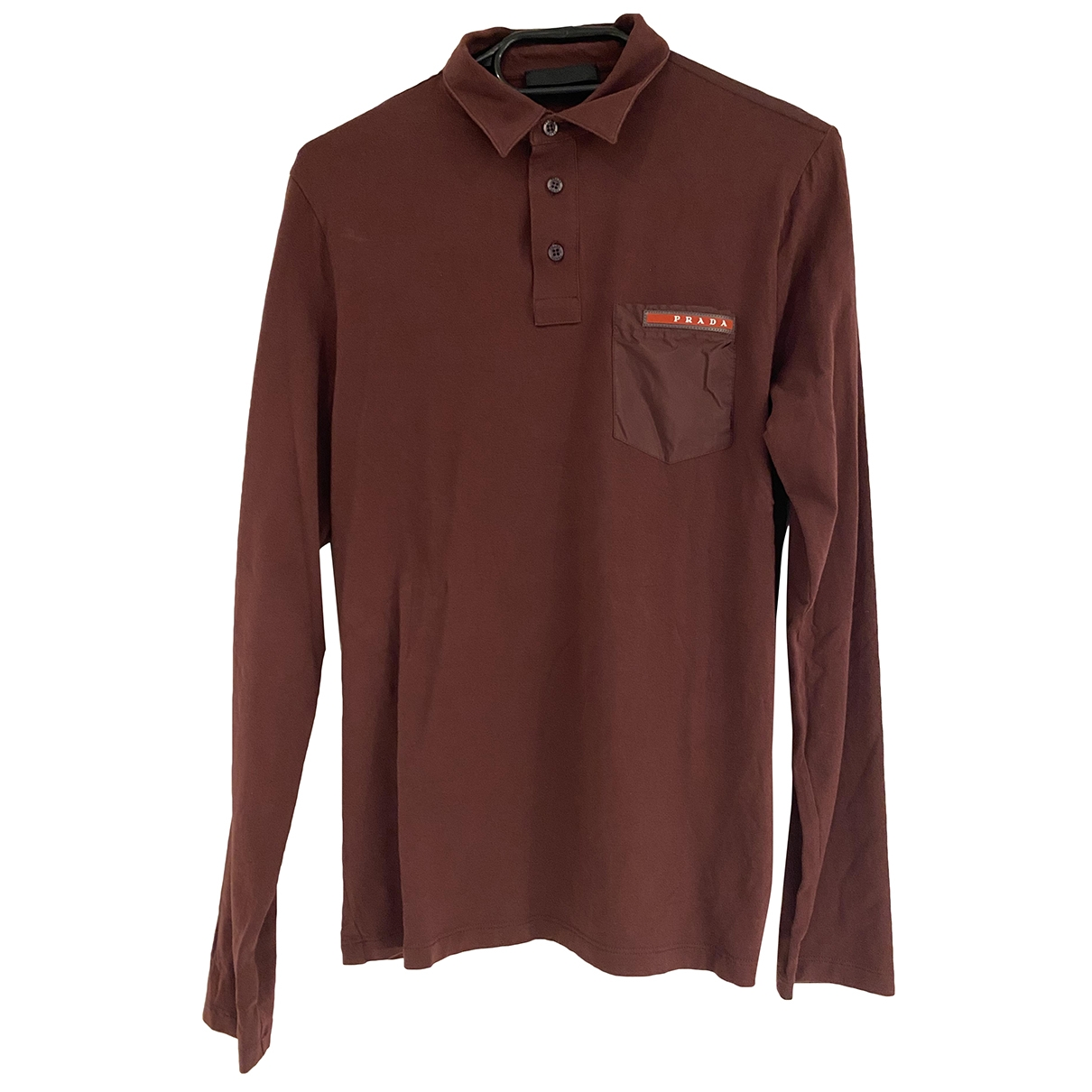 Prada \N Burgundy Cotton Polo shirts for Men S International