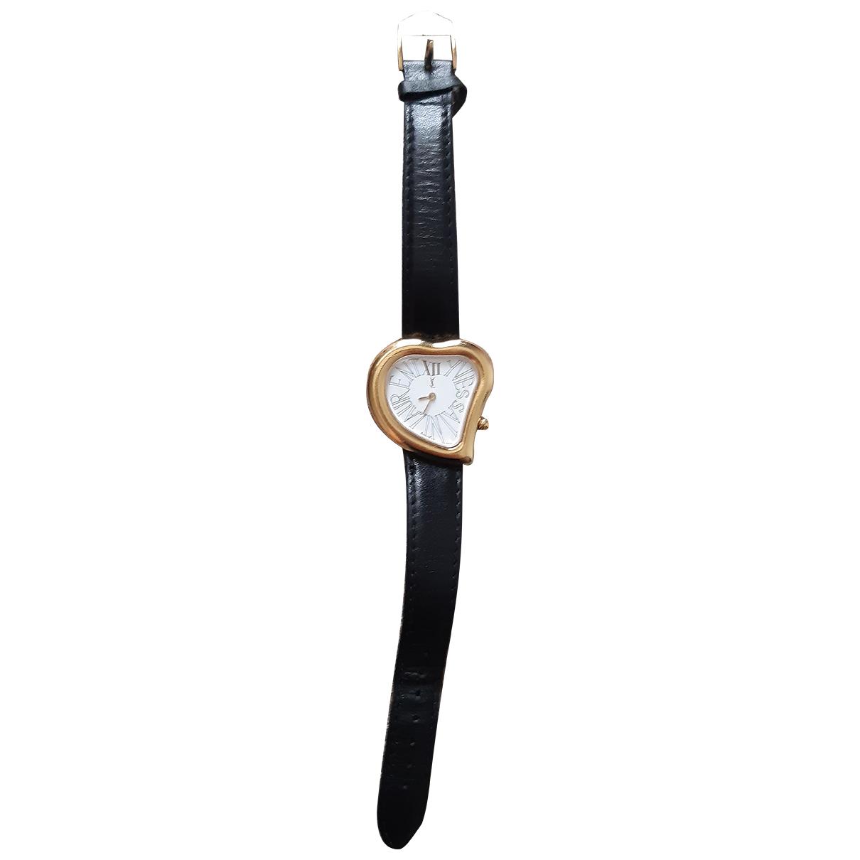 Yves Saint Laurent \N Uhr in  Schwarz Stahl