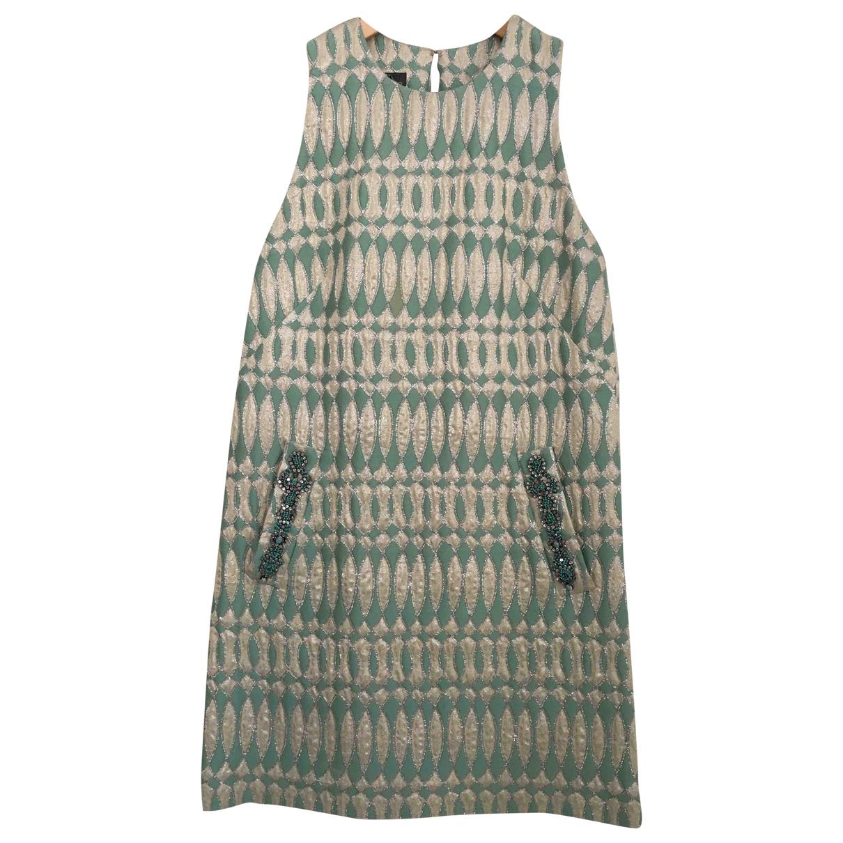 Alberta Ferretti \N Turquoise Cotton dress for Women 38 IT