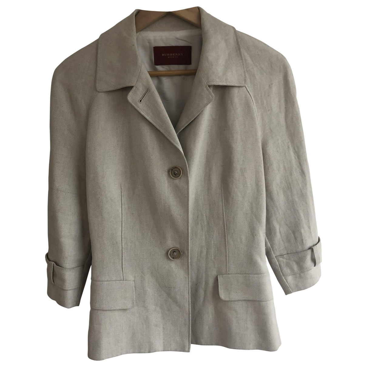 Burberry \N Ecru Linen jacket for Women 40 FR