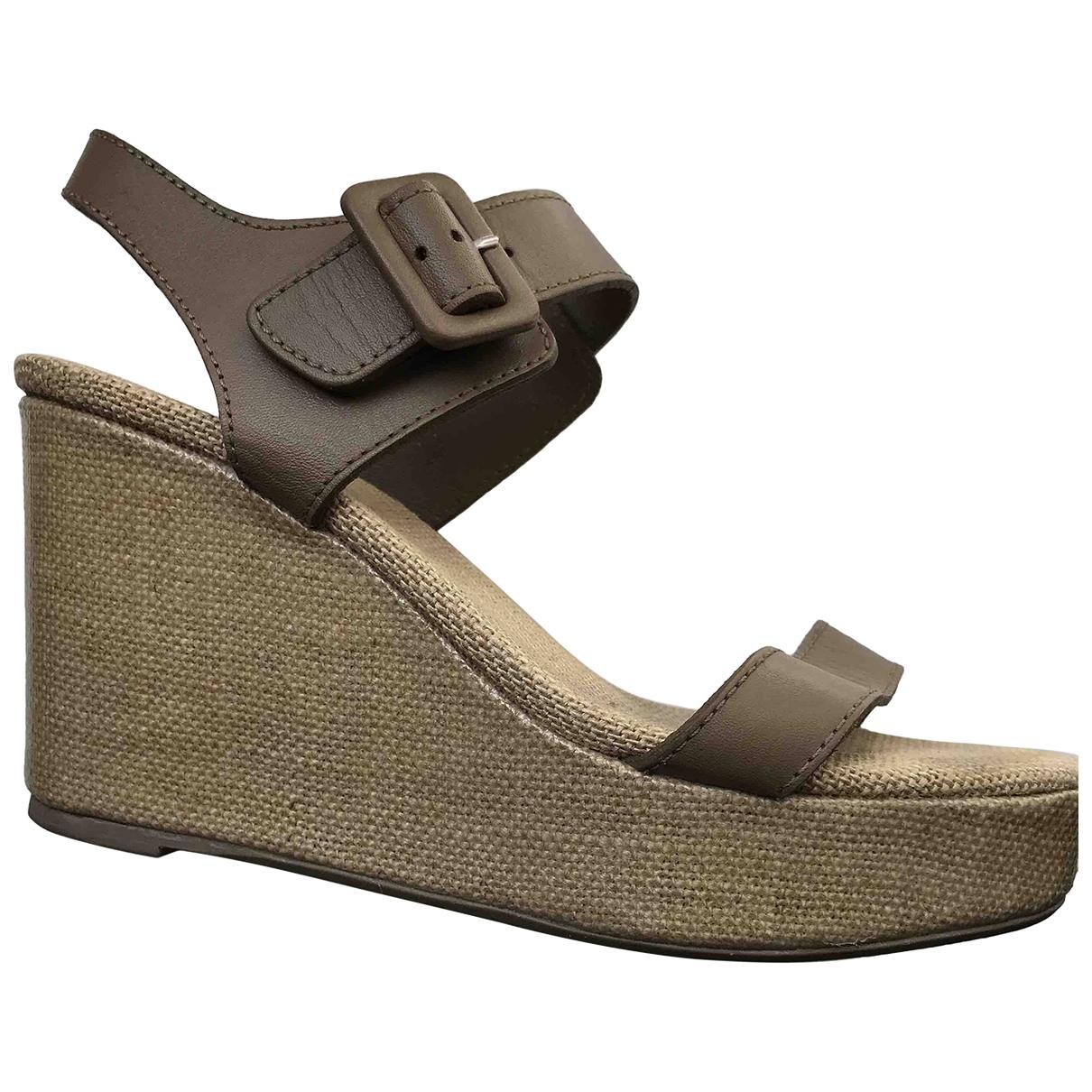Castaner \N Ecru Leather Sandals for Women 36 IT
