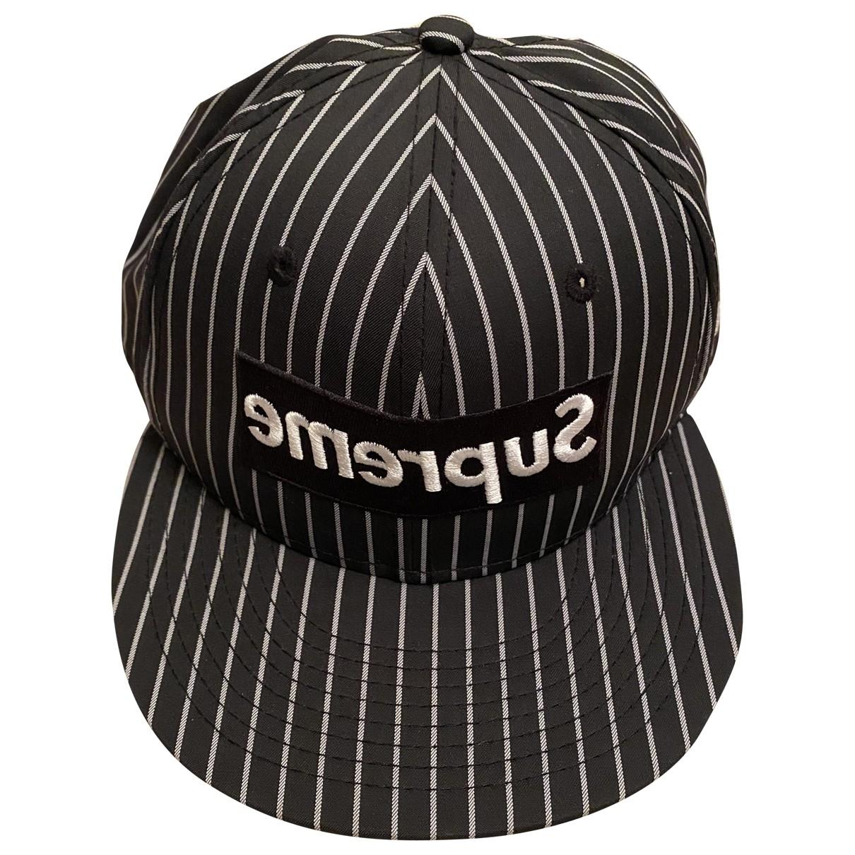 Supreme X Comme Des Garcons - Chapeau & Bonnets   pour homme en toile - noir