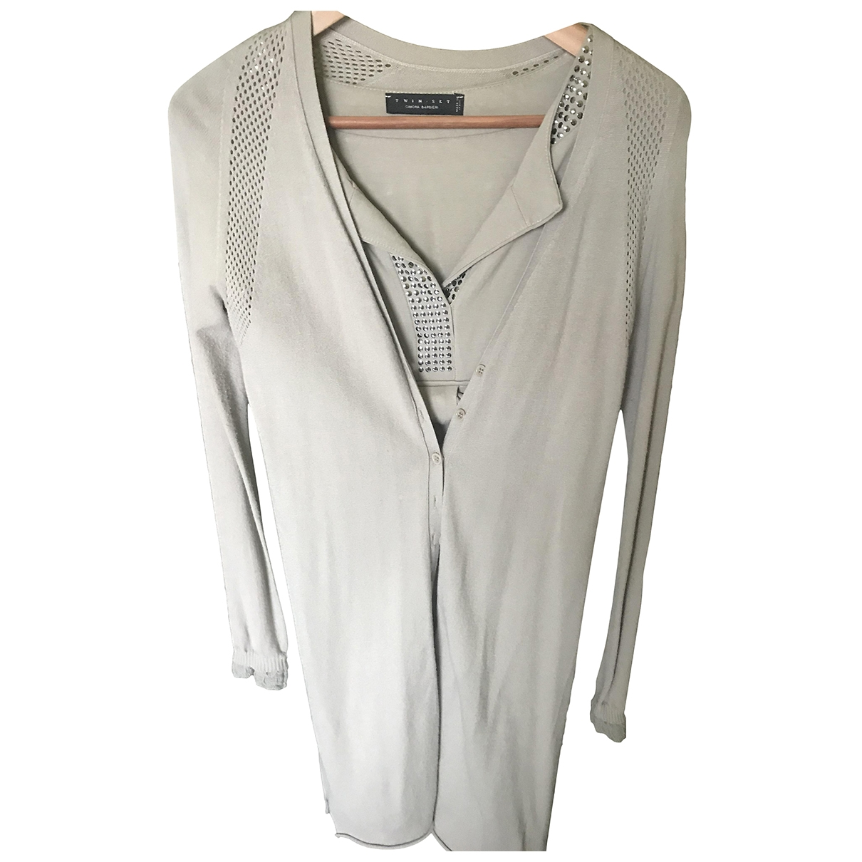 Twin Set - Robe   pour femme en coton - beige