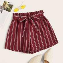 Grosse Grossen - Shorts mit Streifen, Papiertasche und Guertel