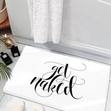 Bodenmatte mit Buchstaben Muster