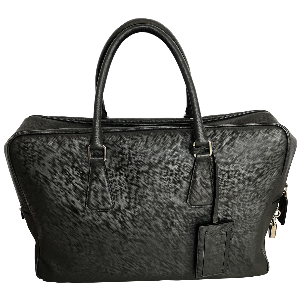 Prada \N Grey Leather bag for Men \N