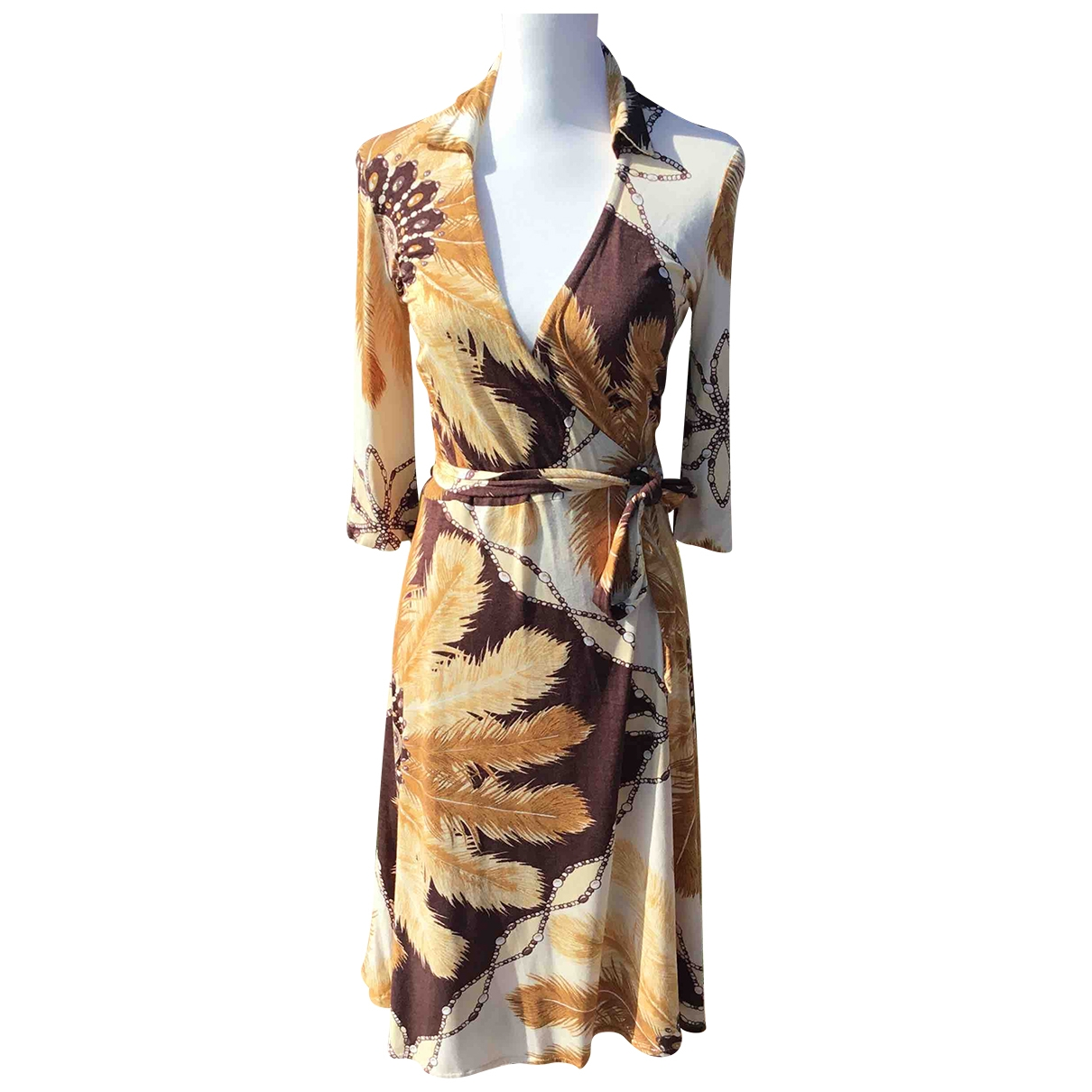 Non Signe / Unsigned \N Kleid in  Beige Synthetik