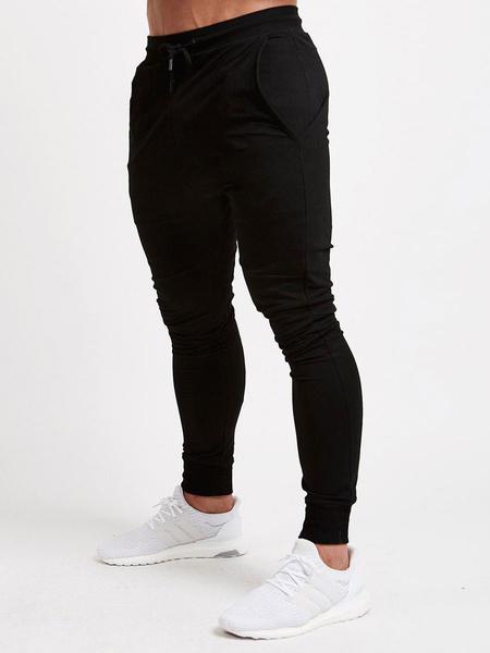 Milanoo Pantalones de chandal para hombre Pantalones de entrenamiento deportivos de entrenamiento de gimnasia livianos