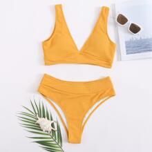 Sets de bikini Liso Amarillo Dulce