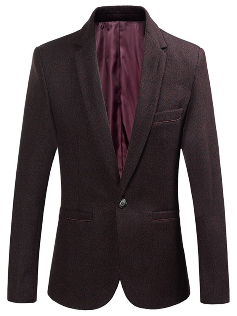 Ericdress Button Style Notched Lapel Casual Men's Leisure Blazers
