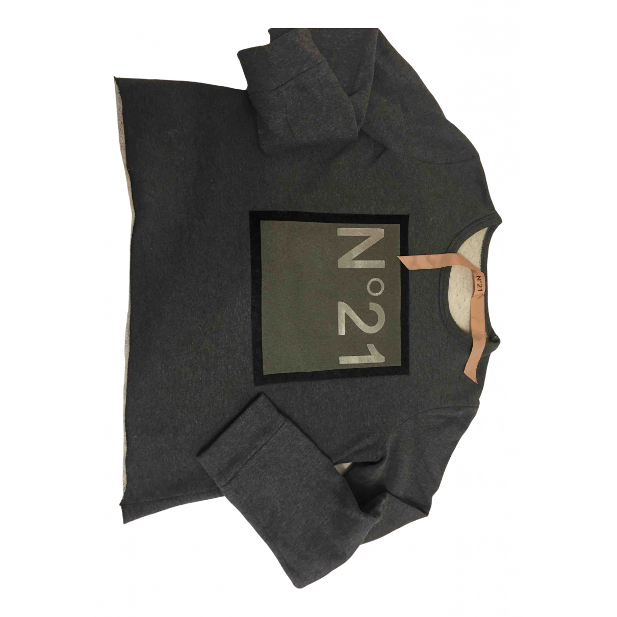 N°21 \N Pullover in  Grau Baumwolle
