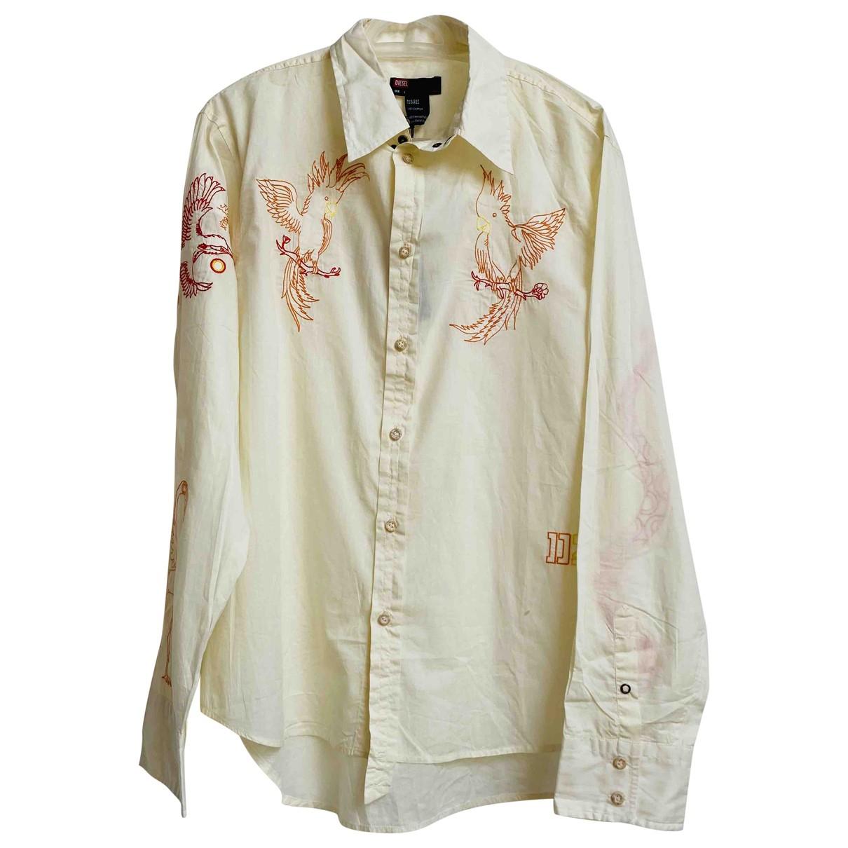 Diesel - Chemises   pour homme en coton - blanc