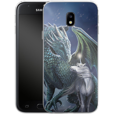 Samsung Galaxy J3 (2017) Silikon Handyhuelle - Protector of Magic von Lisa Parker