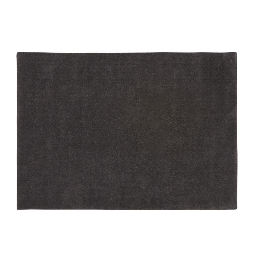 Kurzflorteppich SOFT aus Wolle, 140 x 200cm, anthrazit