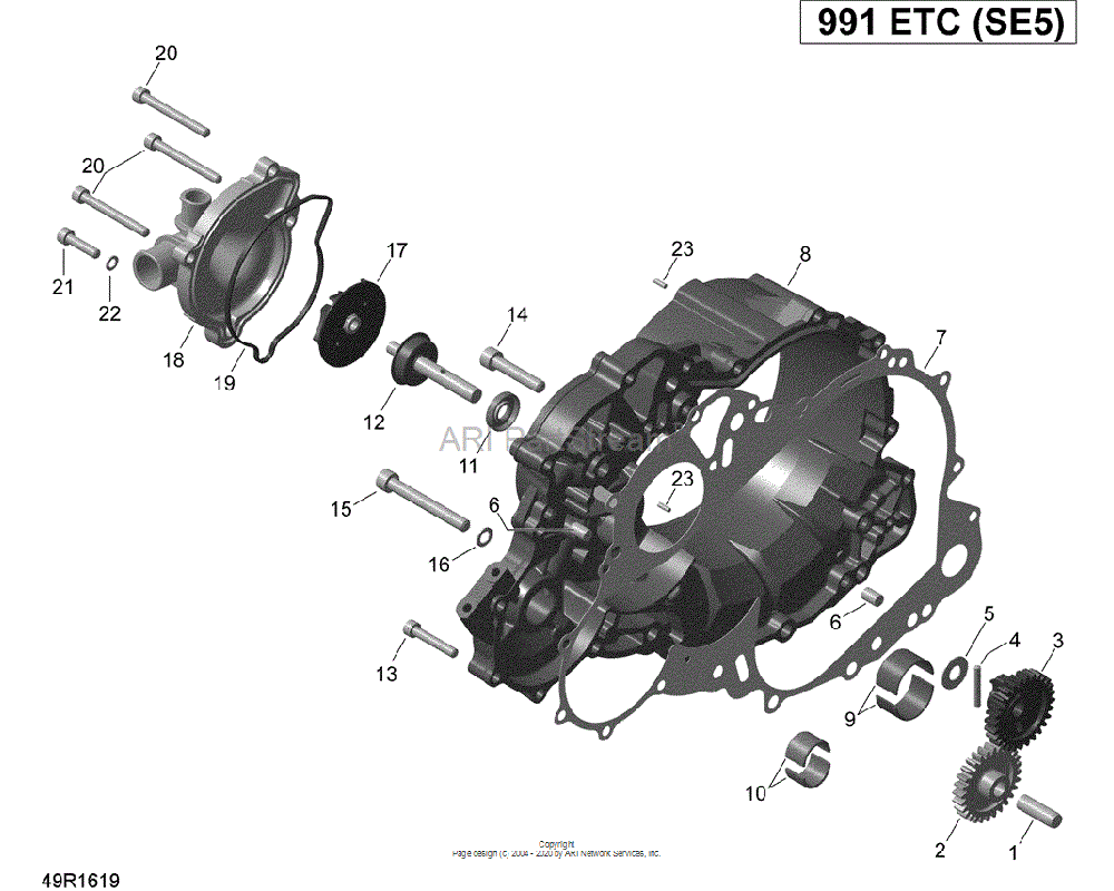 Can-AM OEM Clutch Cover Assembly - SE5 | Includes 8 to 11