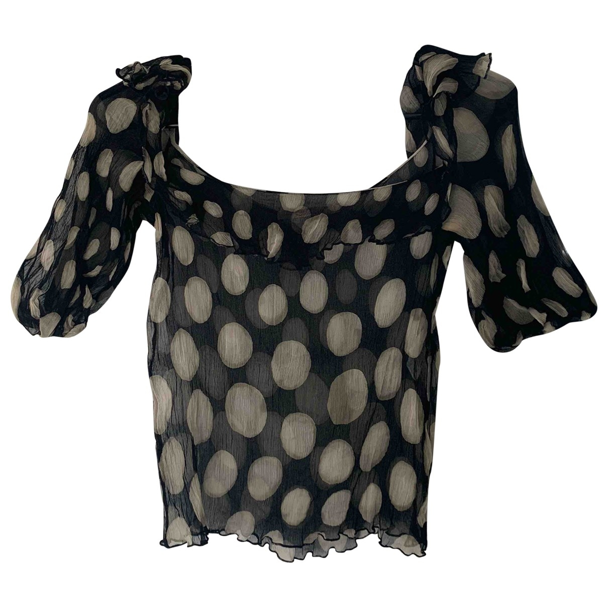 Red Valentino Garavani \N Black Silk  top for Women 42 IT