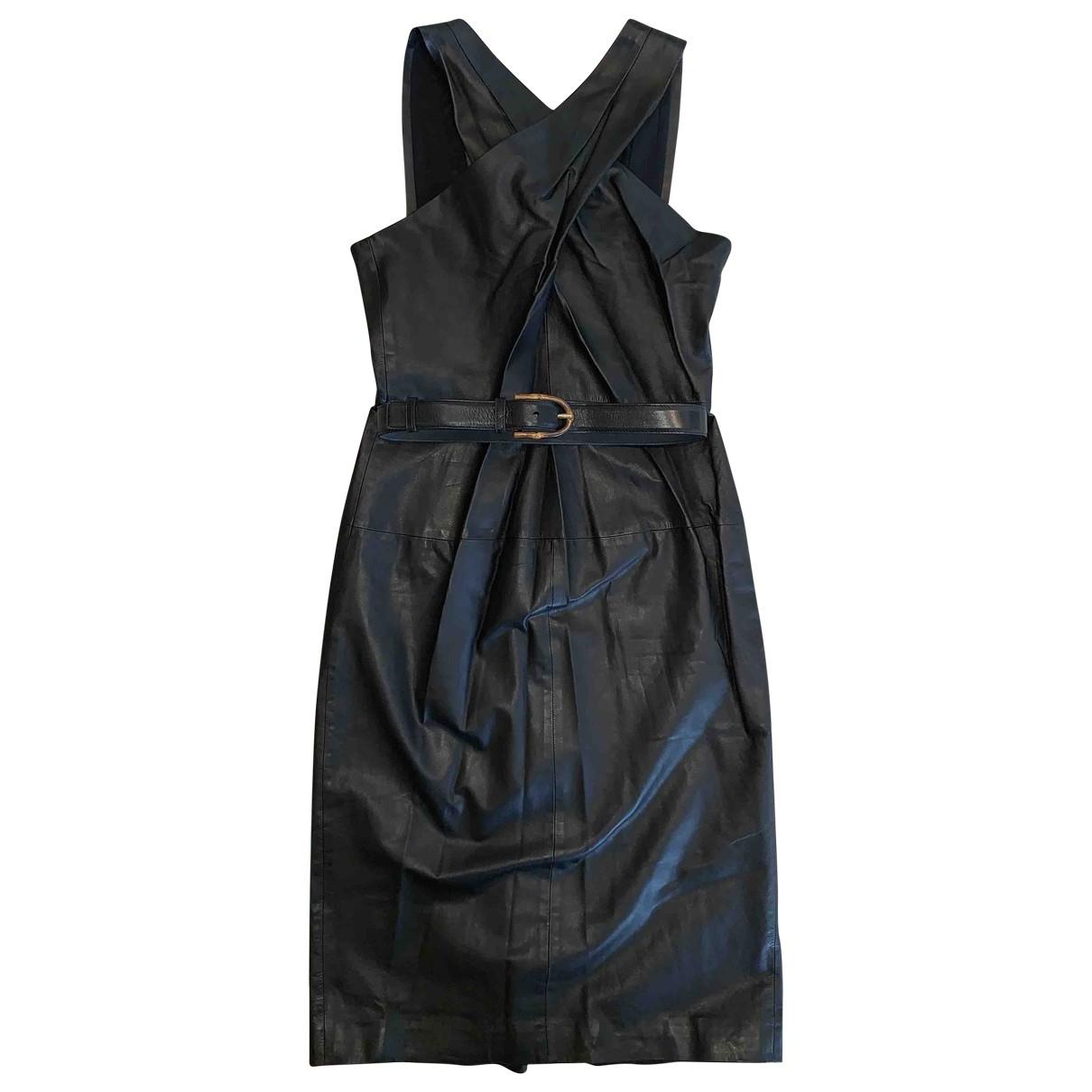Gucci \N Kleid in  Schwarz Leder
