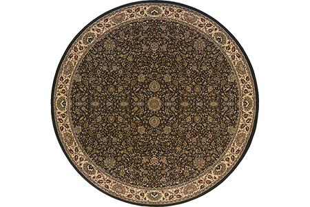 A172D2240240ST 8' Round Rug with Oriental Pattern and PolypropyleneFiber