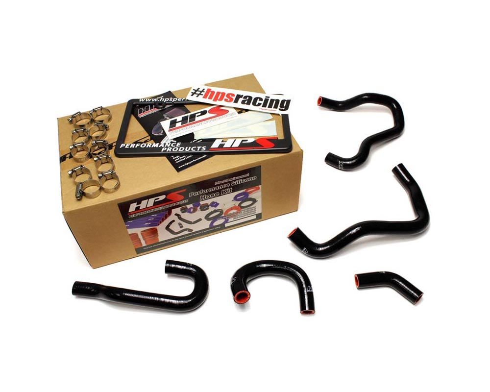 HPS Black Reinforced Silicone Heater Hose Kit for Honda 06-09 S2000