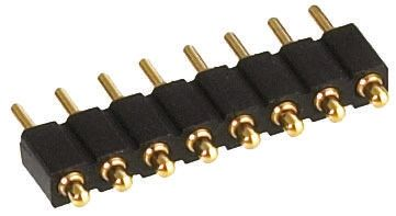 Preci-Dip , 6 Way, 1 Row, Straight Spring Loaded Connector