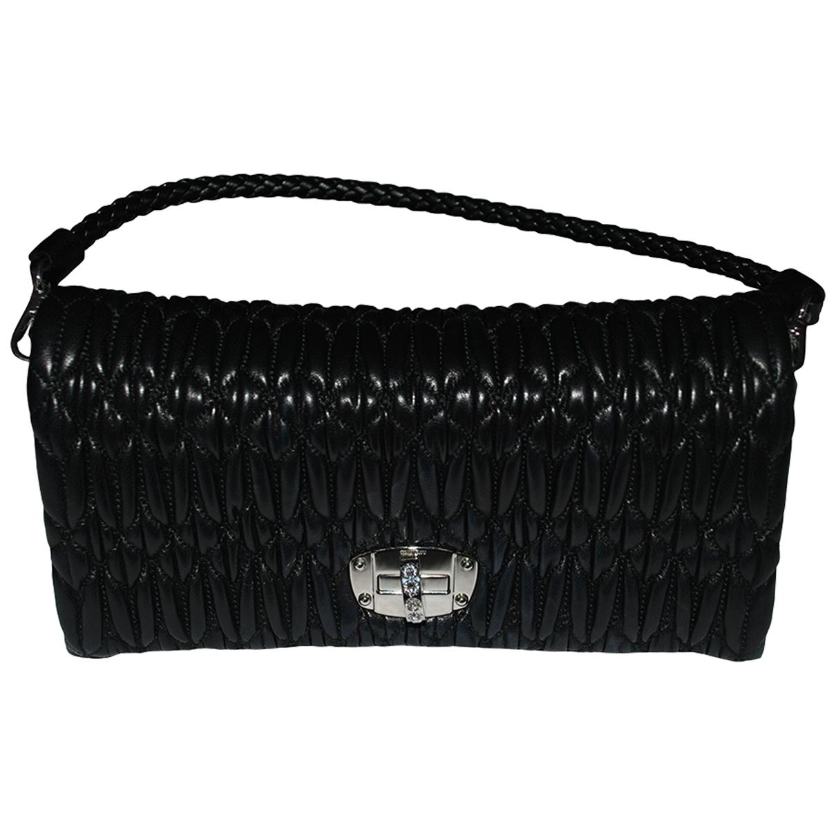 Miu Miu - Pochette Miu Crystal pour femme en cuir - noir