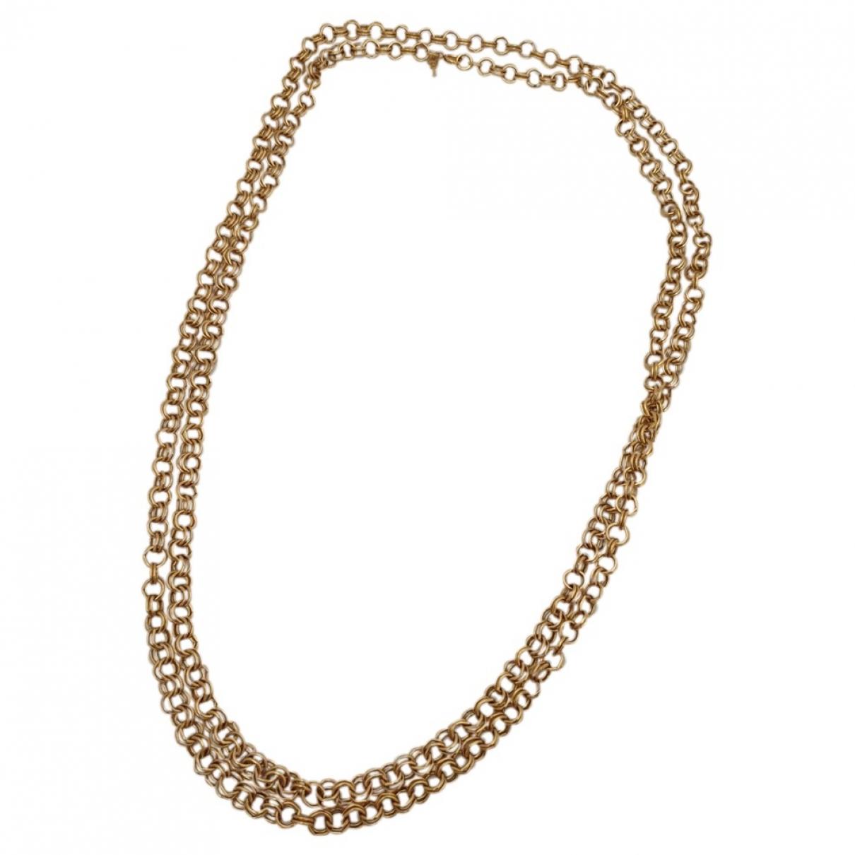 Trifari - Sautoir   pour femme en plaque or - dore
