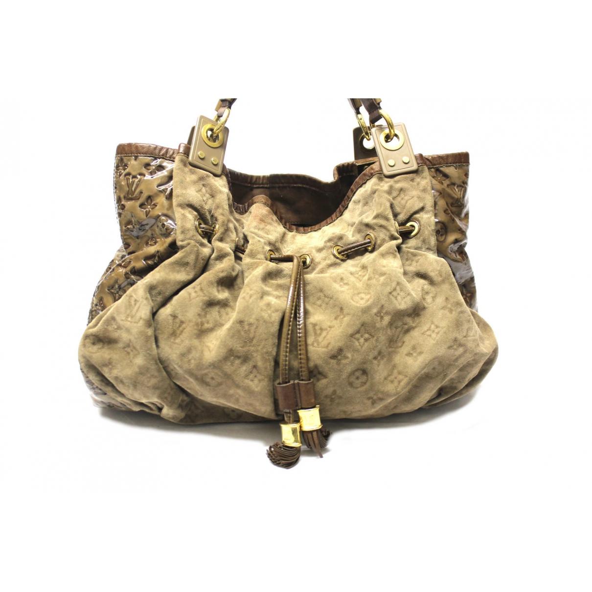 Louis Vuitton - Sac a main   pour femme en suede - beige