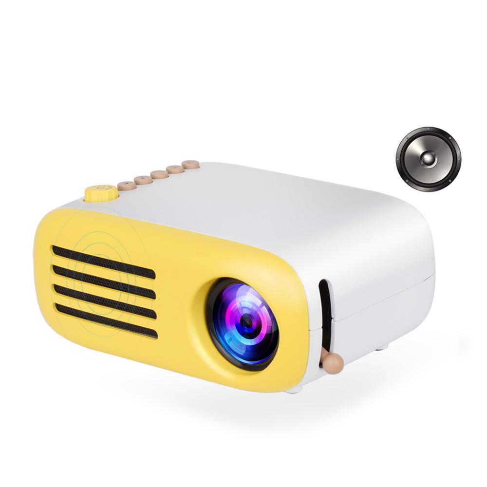 AAO YG200 TFT LCD Mini Projector 400-600 Lumens 320*x240 Pixels Supported 1920x1080 Pixels Portable Home Theater Project