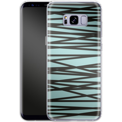 Samsung Galaxy S8 Plus Silikon Handyhuelle - Rendezvous Stripe von Khristian Howell