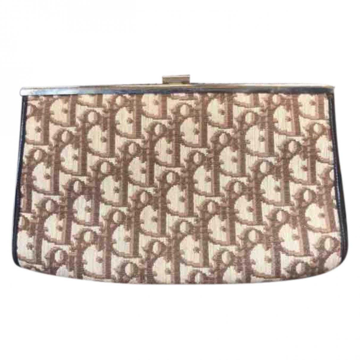 Dior \N Beige Cloth Clutch bag for Women \N