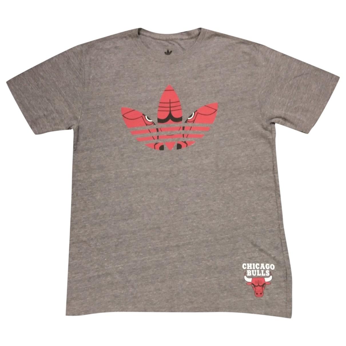 Adidas \N Grey Cotton T-shirts for Men M