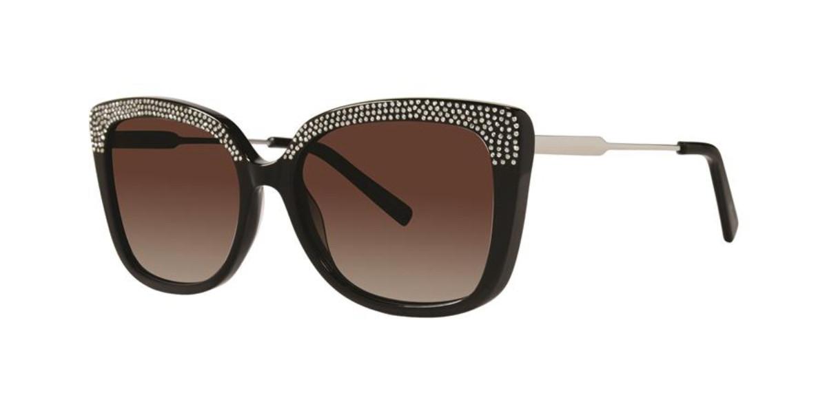 Vera Wang Tera Black Mens Sunglasses Black Size 54 - Free RX Lenses