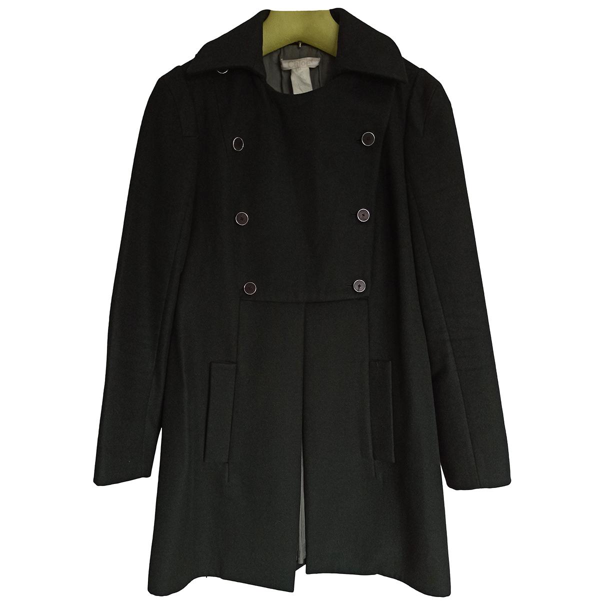 Chloe - Manteau   pour femme en laine - vert