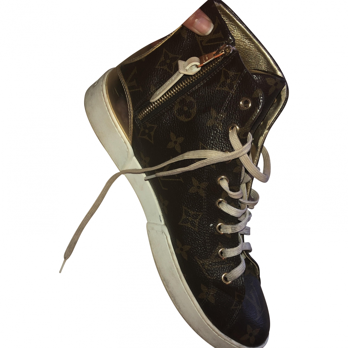 Louis Vuitton Stellar Brown Leather Trainers for Women 40.5 EU