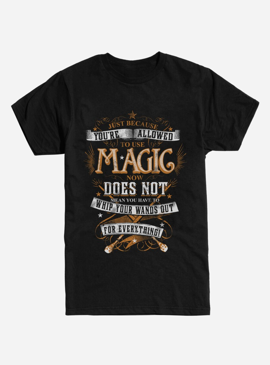 Harry Potter Just Because You're Allowed T-Shirt